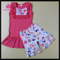 Animal Zoo Many Kind Of Animal Giggle Moon Remakes Boutique Girls Summer Clothing Set Wholesale