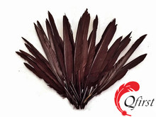 Handmade plumage wholesale dyed brown duck pointer wing feathers for sale