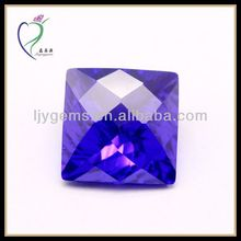 checked square blue rough uncut cubic zirconia gems
