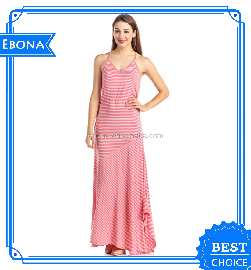 Hot Lady New Design Long Sexy Maxi Beautiful Long Frocks Dresses Women Summer Casual