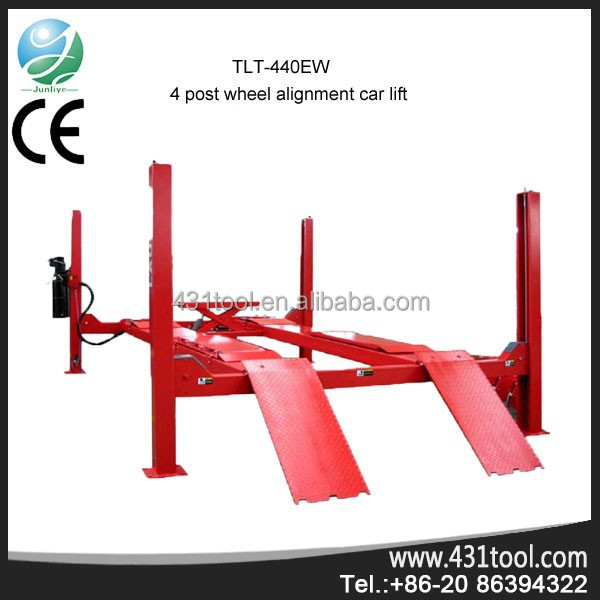 CE original LAUNCH TLT440W four post manual car lift hydraulic piston