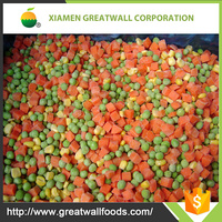 2017 IQF frozen food supplier for frozen mixed vegetables