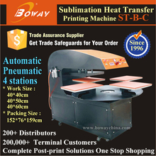 4 work stations Pneumatic Automatic cloth heat transfer printing
