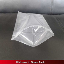 Transparent window no printing resealable stand up bags plastic