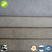 new stone washed polyester linen fabric for home textile