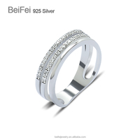 Romantic Wedding Band 925 Sterling Silver