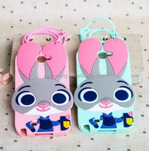 New designed Bunny silicone case cover for Samsung Galaxy Note 2, Rabbit case for Galaxy Note 2