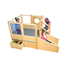 High quality kids wooden indoor playground loft wholesale children play structures