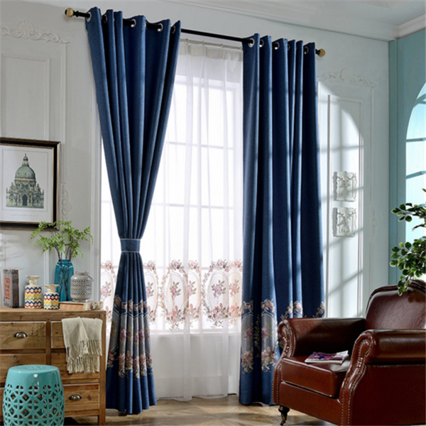 Yarn dyed new fashion design tulle fabric jacquard window curtains