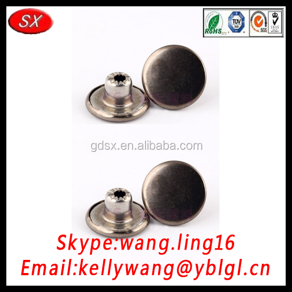 professional manufacturer customized OEM jean button, various of small metal buttons
