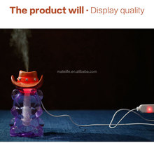Cowboy hat humidifier ultrasonic, Portable car Air Humidifier and Purifier, Aroma diffuser