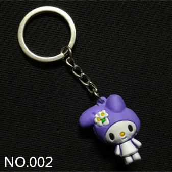 Promotional China style key chain, wholesale custom key holder, custom rubber keychain with EXISTING mold