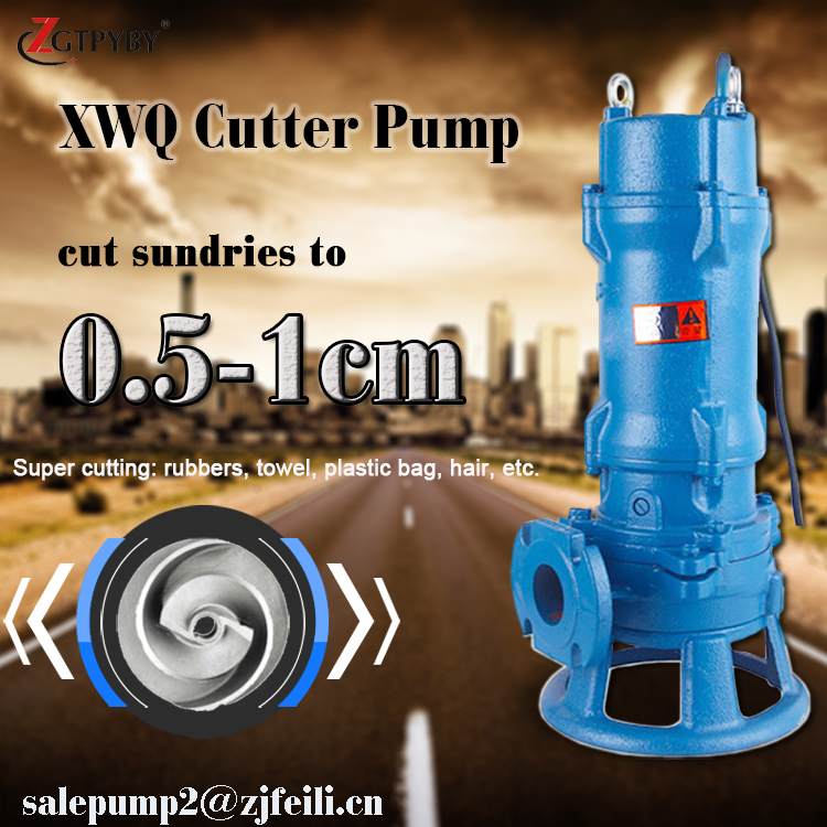 XWQ series submersible sewage water pump grinder centrifugal pump waste high capacity submersible electric sewage (fecal) pump