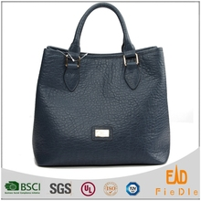 N955-A1780 100% Top Grade elephant texture cow leather tote bag woman's bag Office Lady Leather Handbags