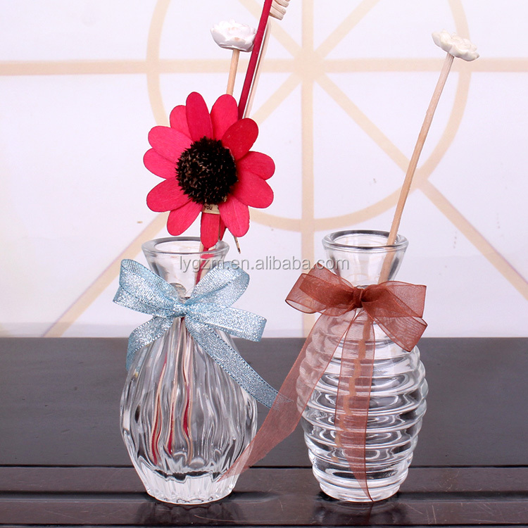 Hot sale 95ml 100ml 105ml engraving empty aroma reed diffuser glass bottle