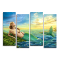 Wholesale Mermaid Fish Photo Canvas Wall Decor Modern Oil Painting Home Wall Decor HD Photo Prints Ready to Hang on Wall