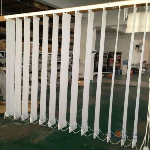 dual vertical blinds pvc slats for polyester string curtain vertical blinds