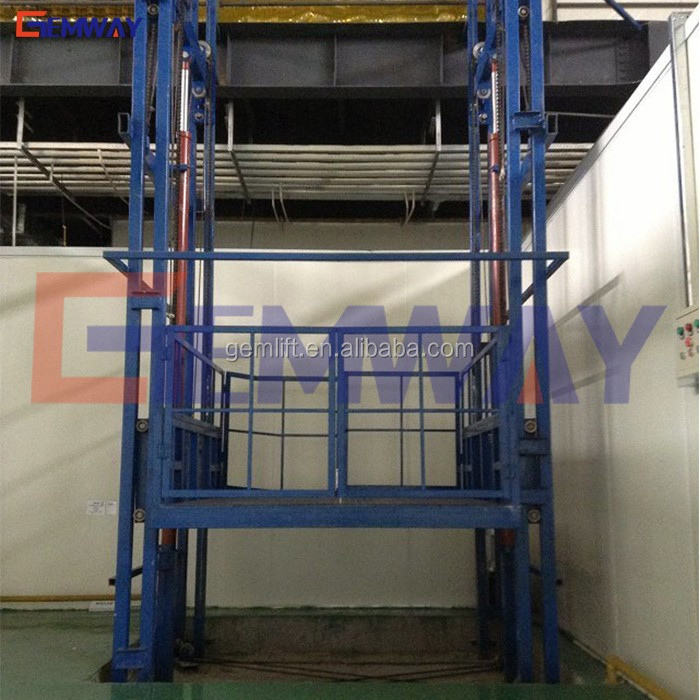 Hydraulic warehouse platform cargo elevator lift sale