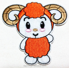 High Quality/ cheap custom design/lovely Iron On Sheep Embroidery Patches