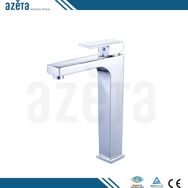 Countertops Single Lever Chrome Brass Tall Faucet Bathroom Wash Basin Mixer Tap