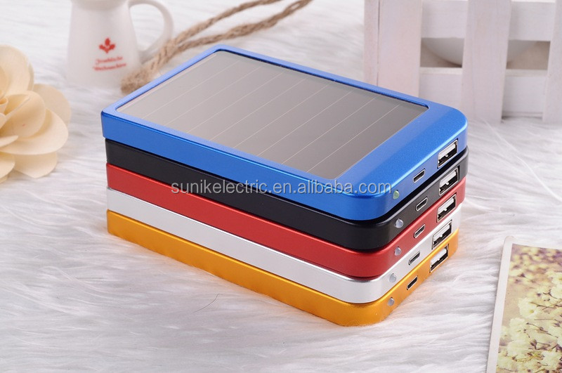 Polymer 3500 mAh portable power bank with solar energy function