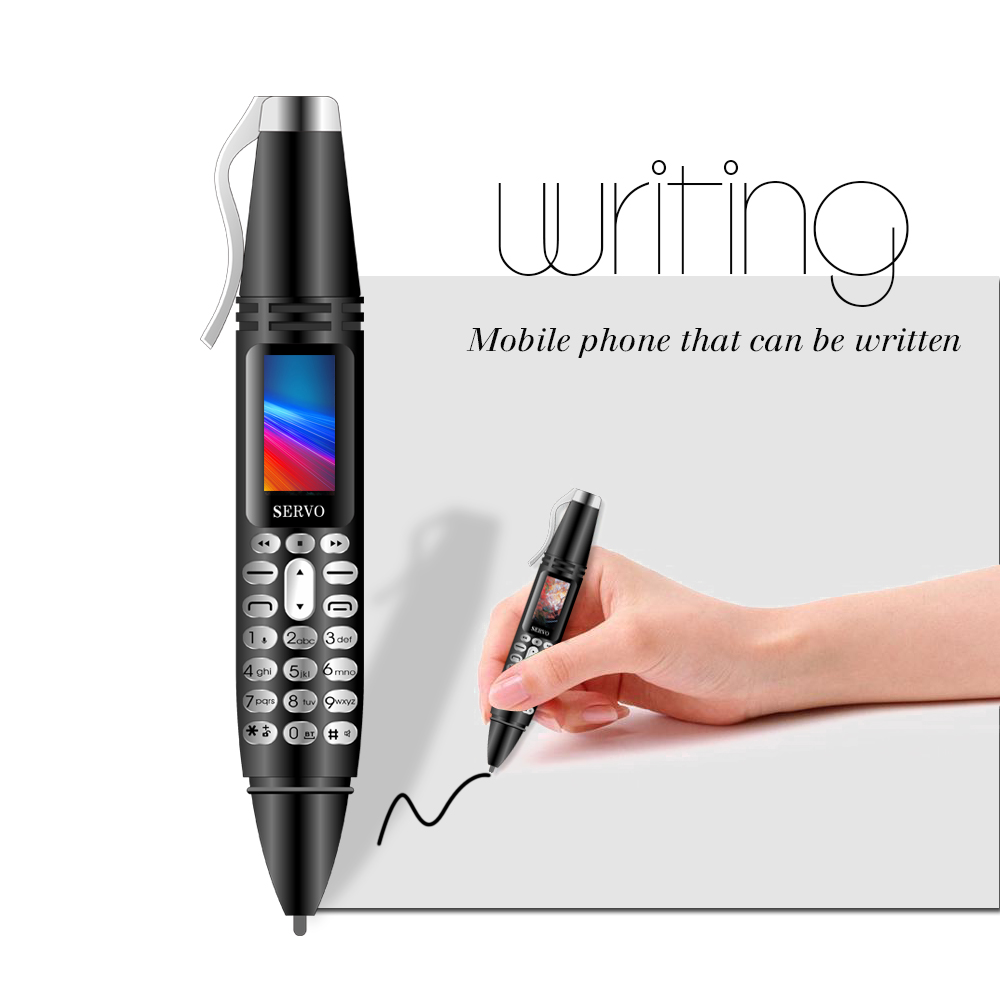 "Pen mini Cellphone 0.96"" Tiny Screen Bluetooth Dialer Mobile Phones with Recording pen"