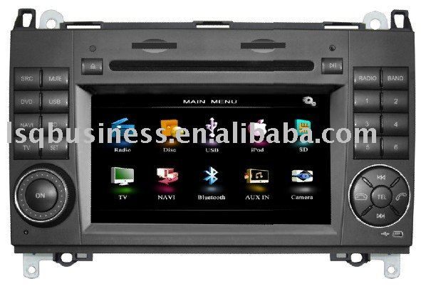 Benz car dvd player with Touchscreen, TV, RDS, Bluetooth, GPS, steering wheel control,SD,USB,O,TMC,DVB-T