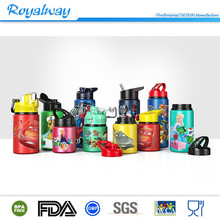 2017 new design wide mouth large single wall design insulated aluminum water bottle with leak proof flip top straw cap