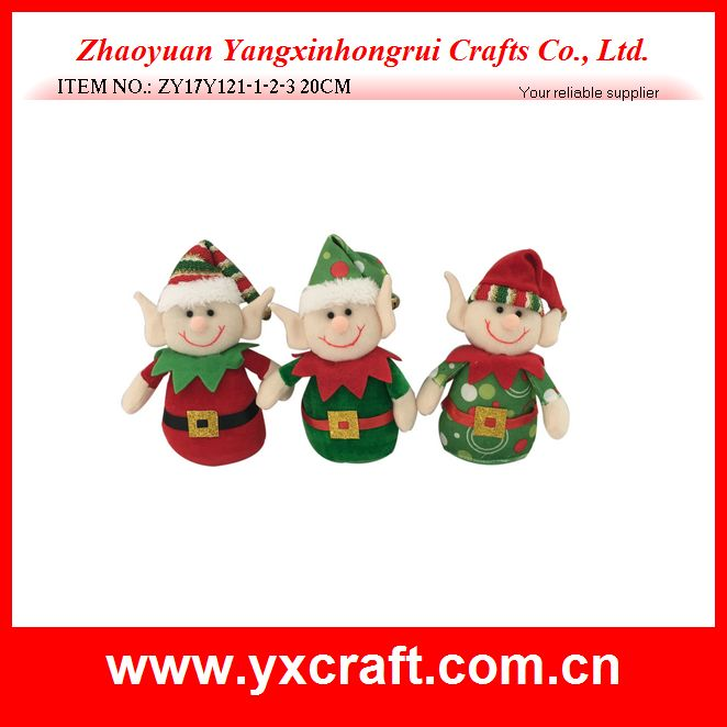 Christmas decoration (ZY17Y121-1-2-3) stuffed elf figure christmas day
