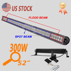 Offroad Car roof top light bar 52 Inch IP67 Waterproof 300W LED light bar