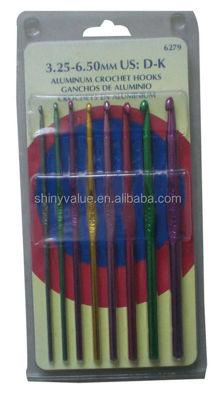 Aluminum Household Custom hand driven flat Knitting needle