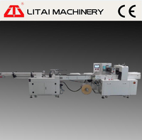 Plastic paper foam cup packing machine including counting packing and sealing parts
