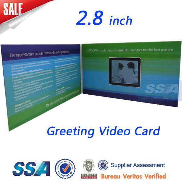 Hotsale Chrismas Day Musical video Greeting Card/OEM printing