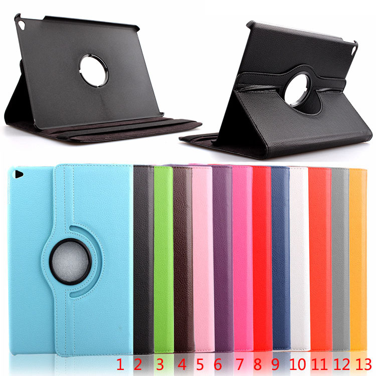 360 Rotary Flip Litchi Leather Stand Cover Case For iPad Air 2
