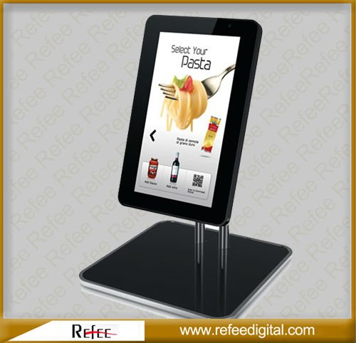 15 Inch Ipad Style Mall Hotel Table Stand Interactive Floor