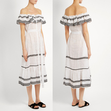 Tall Women Linen Embroidery Clothing Off the Shoulder Elegant Dresses Summer