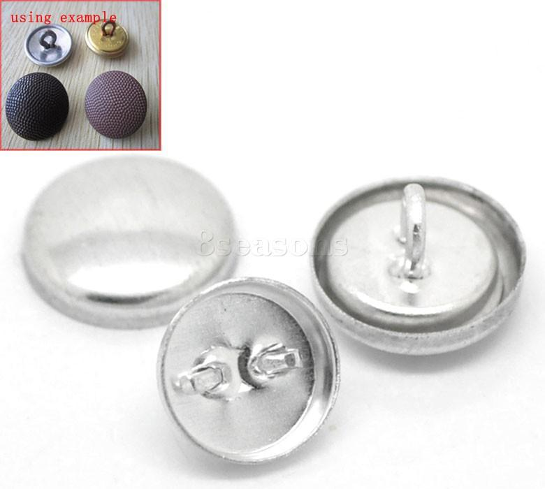 Handmade Round Tone Single Hole Aluminum Snap Button Cover