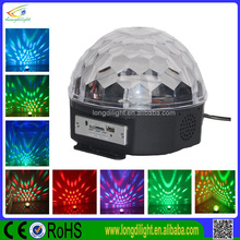 Mini LED RGB Crystal Magic Ball Effect light DMX 512 Control Pannel Disco DJ Party Stage Lighting