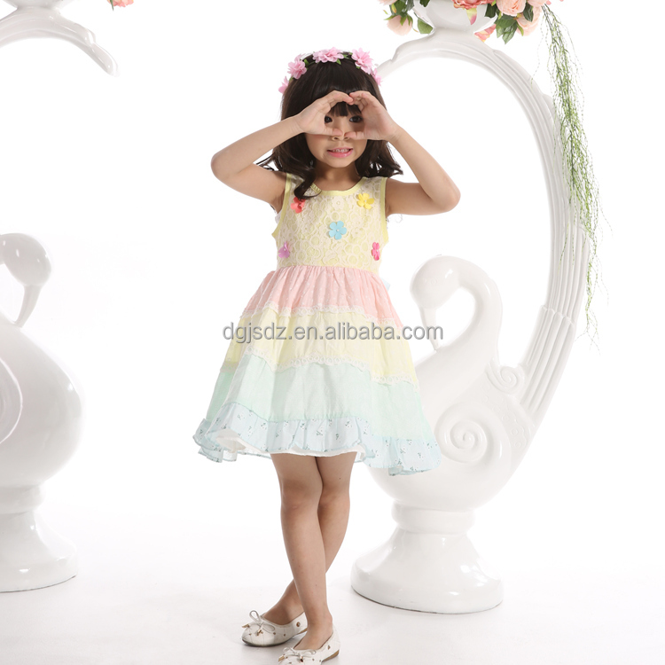 children casual frock design new fashion frock model of 2016 girls sweet dress