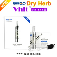 Best gift! wholesale portable healthy electronic dry herb vaporizer cigar Seego Vhit Reload 2 vaporizer herb