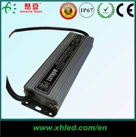 High power IP67 dimmable 12V 60W waterproof led driver