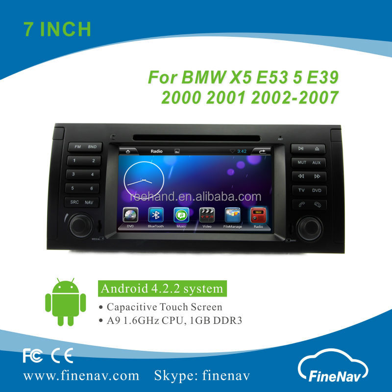 7inch Remote Control Car Stereo for BMW X5 E53 E39 Android with Gps Navi,3G,Wifi,Bluetooth,Ipod Support Rear View Camera,DVR