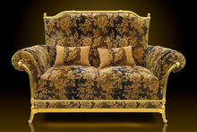 Royal Golden Aluminium Hotel Furniture Sofa Luxury Classic Design European Style Elegant Living Room Malaysia
