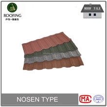 Hotsale nosen colorful stone coated metal roof tile, steel roof tile