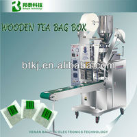 Tea bag packing machine with thread and tag, wooden tea bag box making machine for sale