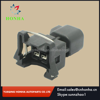 Boschs Type EV1 plug female to EV6 2 pin male fuel injector harness connector Adapter plug