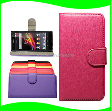 Bulk Buy Back Cover Battery Flip Leather Cover for Sony Xperia Z ,Silicone Waterproof Case for Sony Xperia Z case