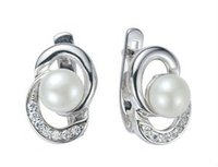 Silver Earing with Pearl