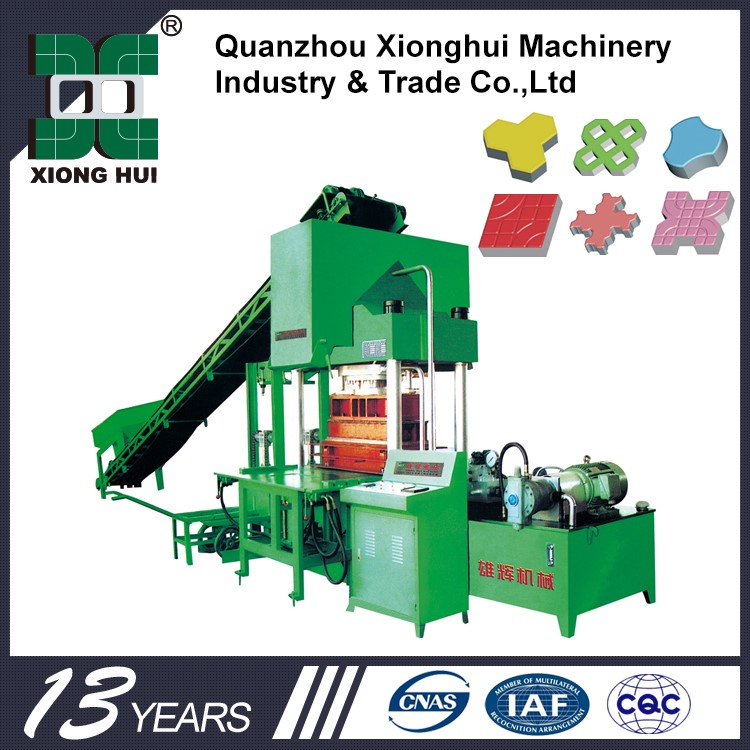 XH1500 Hydraulic Interlocking Brick Machine Manual Concrete Hand Press Earth Block Machine In Kenya