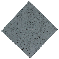 Chinese Mirror Grey Quartz Engineered Stone For Countertop